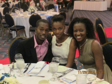 Chadwick Barclay (MSE Student), Ms. Williams (MSE Staff) and Ms. Stephenson (MSE Staff)