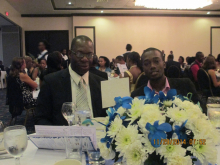 Dr. Lindon Falconer (MSE Lecturer) and Chadwick Barclay (MSE Student)