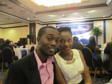Chadwick Barclay (MSE Student) and Tena Williams (MSE Staff)