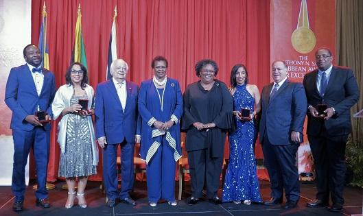 (L-R) ANSA Caribbean Awards for Excellence 2019 recipients: Corey Lane, Danielle