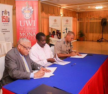 UWI, MONA TO TRAIN POLICE RECRUITS UNDER MOU WITH MINISTRY OF NATIONAL SECURITY