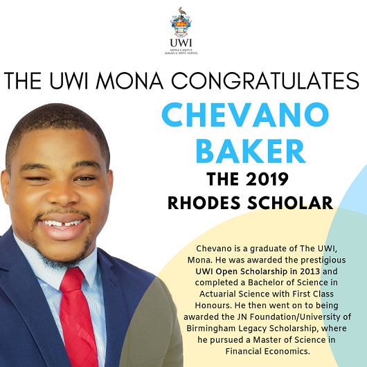 Chevano Baker the 2019 Rhodes Scholar