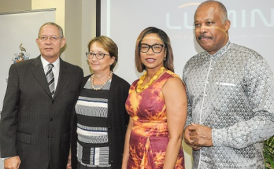 The Hon. Bruce Golding, former Prime Minister of Jamaica; Galina Sotirova, World