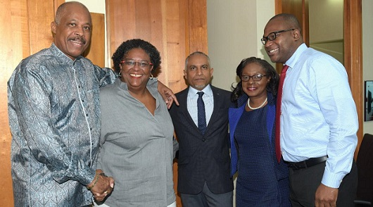 From left: Professor Hilary Beckles, Vice Chancellor of THE UWI; the Honourable