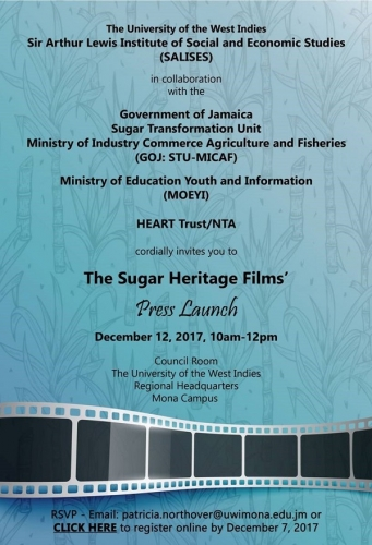 Invitation to the UWI-GOJ Sugar Heritage Project Press Launch