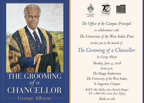 Book Launch | The Grooming of a Chancellor by George Alleyne