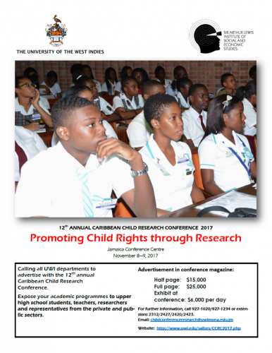 12th ANNUAL CARIBBEAN CHILD RESEARCH CONFERENCE 2017