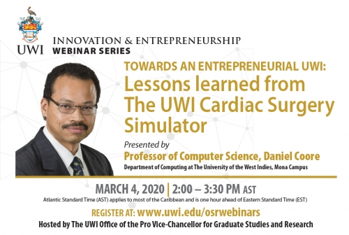 New Innovation and Entrepreneurship Webinar ft. Professor Daniel Coore