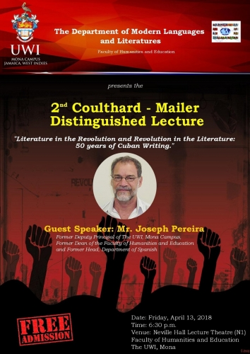 Department of Modern Languages and Literatures | 2nd Coulthard - Mailer Distinguished Lecture