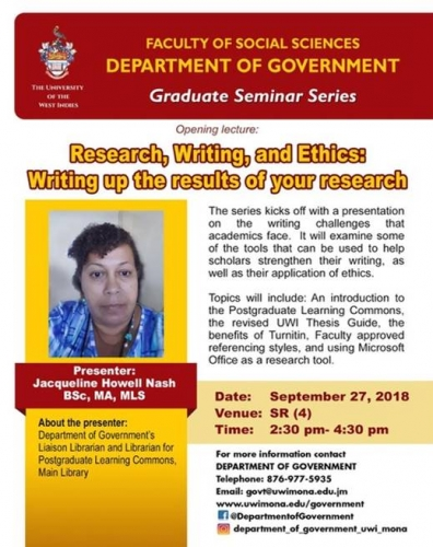 Department of Government Graduate Seminar