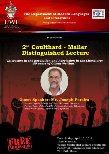 Department of Modern Languages and Literatures:  2nd Coulthard Mailer Distinguished Lecture