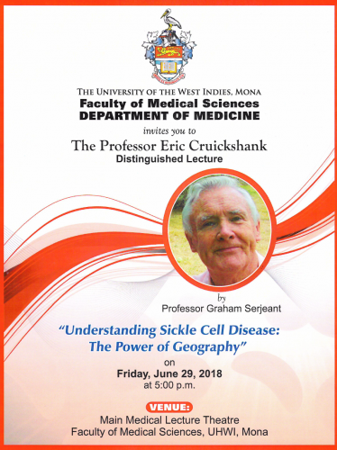 Eric Cruickshank Distinguished Lecture 2018