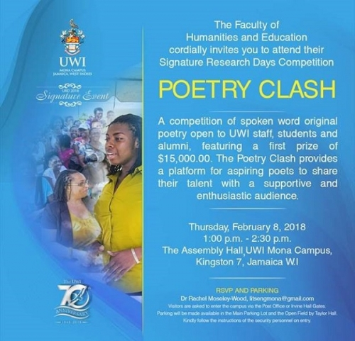 Faculty of Humanities and Education Poetry Clash 2018
