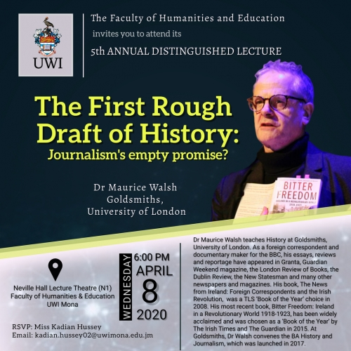 Faculty of Humanities and Education | 5th Annual Distinguished Lecture