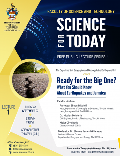 FST - Nobel Laureate Event and Earthquake Public Lecture