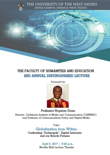 Faculty of Humanities and Education 2nd Annual Distinguished Lecture