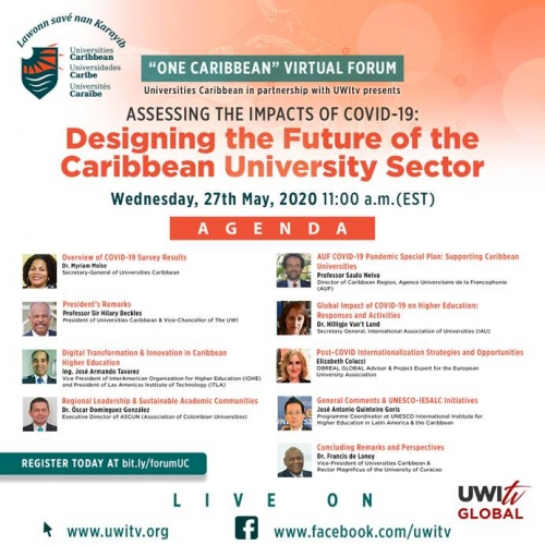One Caribbean Virtual Forum  Assessing the Impacts of COVID-19—Designing the Future of the Caribbean University Sector