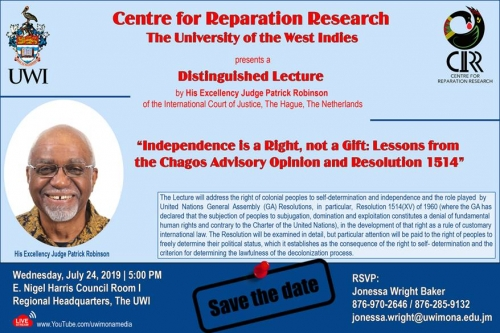 Centre for Reparations Research Distinguished Lecture | Independence is a Right, not a Gift