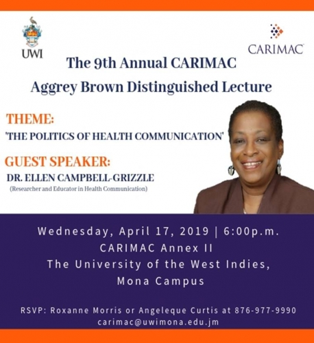 The 9th Annual CARIMAC Aggrey Brown Distinguish Lecture