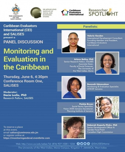SALISES and Caribbean Evaluators International (CEI) | Panel Discussion : Monitoring and Evaluation in the Caribbean