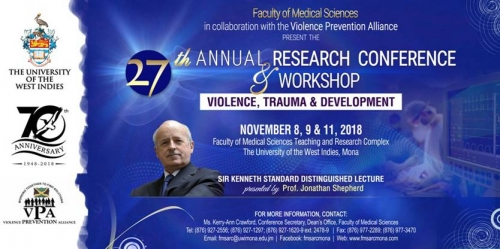Faculty of Medical Sciences - Violence Prevention Alliance | 27th Annual Research Conference and Workshop