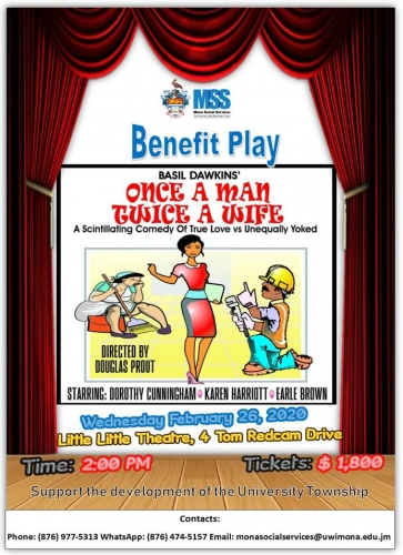 "Mona Social Services Benefit Play | ""Once A Man Twice A Wife"""