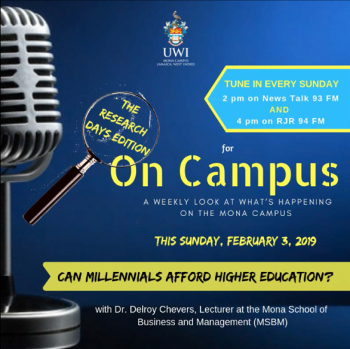 Campus Programme Feb 3, 2019 | Can Millennials Afford Higher Education?