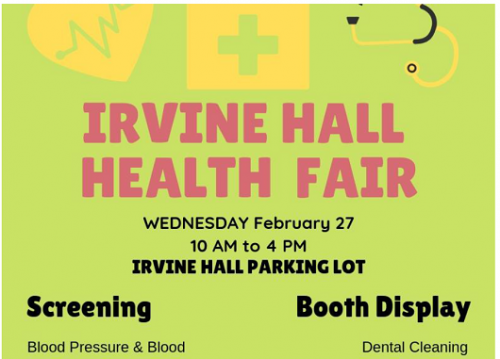 Irvine Hall Health Fair