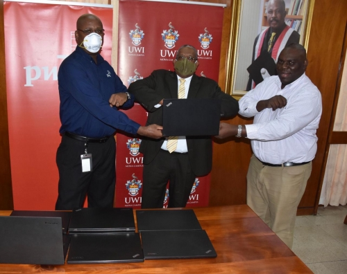 TO MY UNIVERSITY WITH LOVE... PwC gifts laptops to The UWI Mona