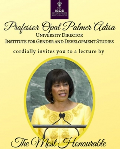 Lecture by the Most Honourable Portia Simpson Miller