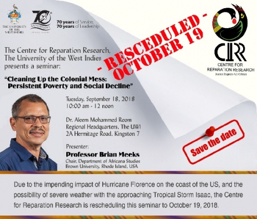 Centre for Reparation Research: Rescheduled Seminar