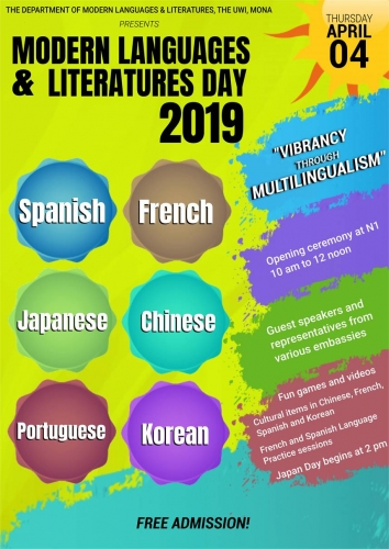 MODERN LANGUAGES AND LITERATURES DAY 2019