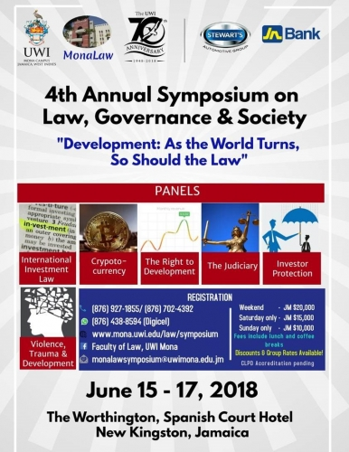 Mona Law 4th Annual Symposium on Law, Governance & Society