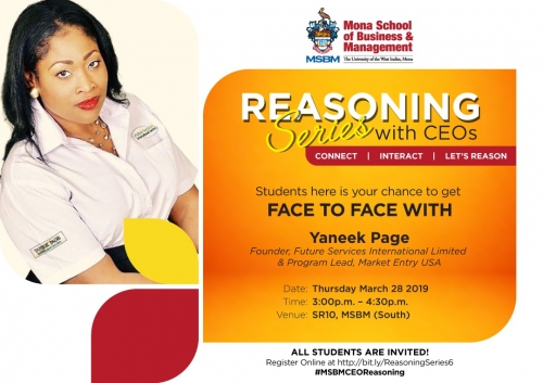 MSBM Reasoning Series with CEOs ft. Yaneek Page