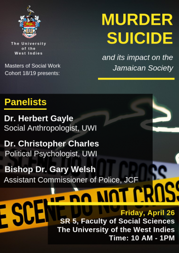 Panel Discussion | Murder Suicide and its impact on the Jamaican Society