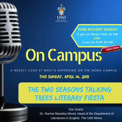 On Campus Promo - April 14-2019 - Two Seasons Talking Trees Literary Fiesta