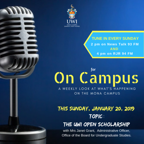 ON CAMPUS - Every Sunday at 4:00 pm an RJR 94 FM