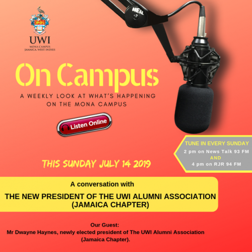 On Campus Radio Programme-The New President Of The UWI Alumni Association (Jamaica Chapter)
