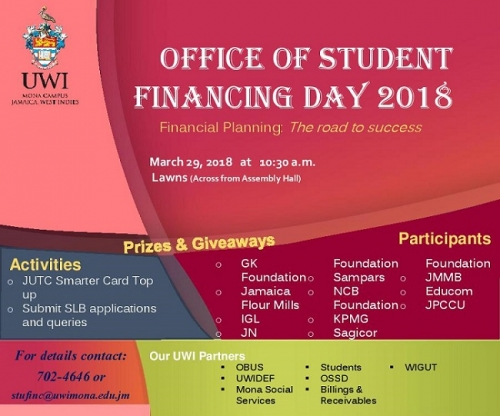 OFFICE OF STUDENT FINANCING DAY 2018 - Financial Planning: The Road to Success