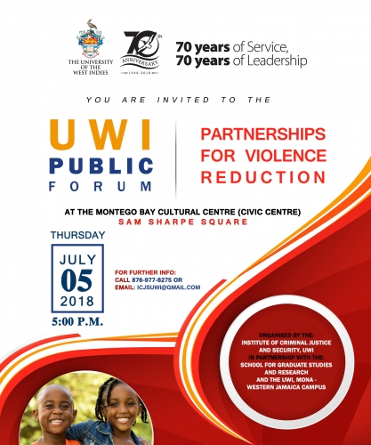 Print-vite - UWI Public Forum - Partnerships for Violence Reduction