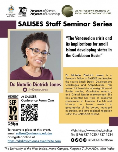 SALISES Seminar Series 2018/19 - Dr Natalie Dietrich Jones