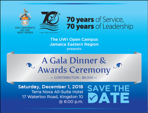 Save the Date- Jamaica Eastern Region Gala Dinner and Awards Ceremony