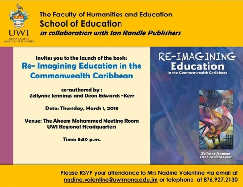 School of Education Book Launch | Re-Imagining Education in the Commonwealth Caribbean