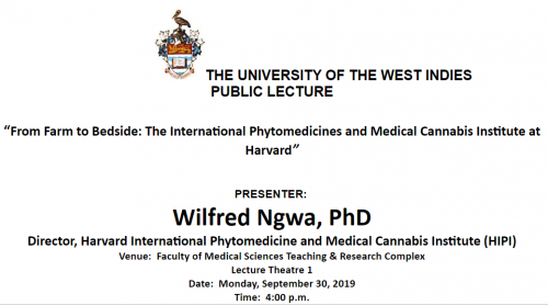Public Lecture: From Farm to Bedside: The International Phytomedicines and Medical Cannabis Institute at Harvard