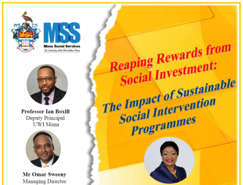 Mona Social Services Public Forum | The Impact of Sustainable Social Intervention Programmes
