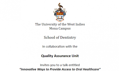 Mona School of Dentistry: Quality Assurance Lecture