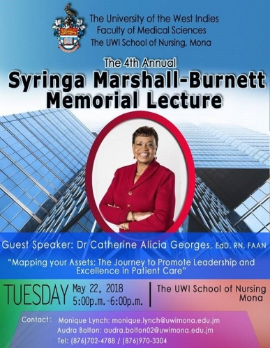 THE 4TH ANNUAL SYRINGA MARSHALL-BURNETT MEMORIAL LECTURE