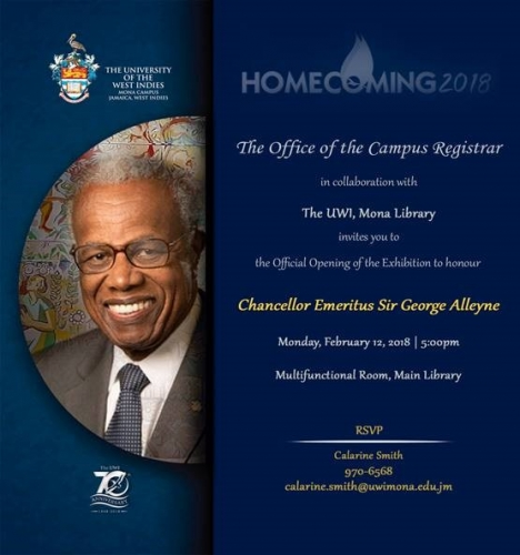 The Official Opening of the Exhibition to Honour Chancellor Emeritus Sir George Alleyne