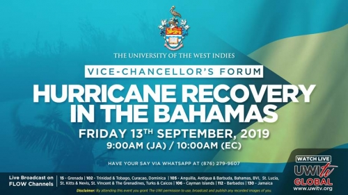 The Vice Chancellor's Forum on the Hurricane Recovery Efforts in The Bahamas