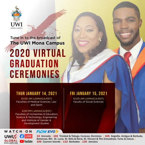 Rescheduled UWI graduation ceremonies begin January 10-01